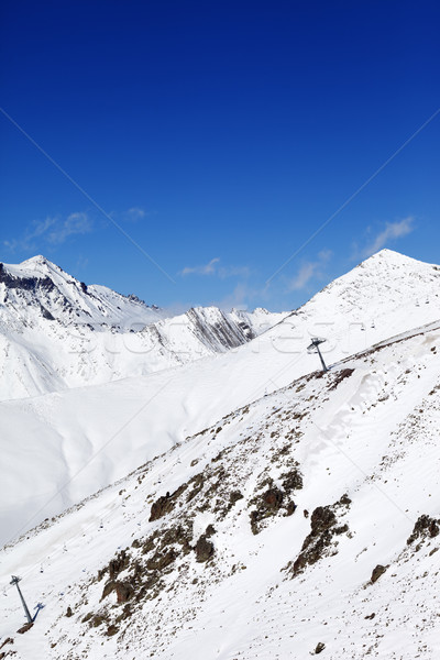 Stock photo: Winter mount at sunny nice day