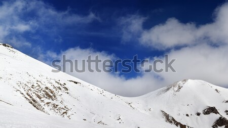 Panorama of mountain pass and off-piste slope Stock photo © BSANI