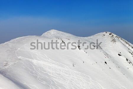 Ski slope, off-piste Stock photo © BSANI