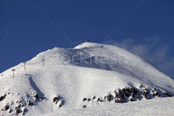 Ski slope and chair lift Stock photo © BSANI