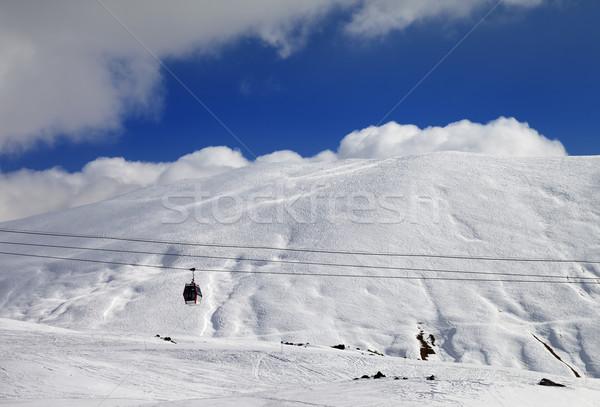 Gondola lift and off-piste slope Stock photo © BSANI