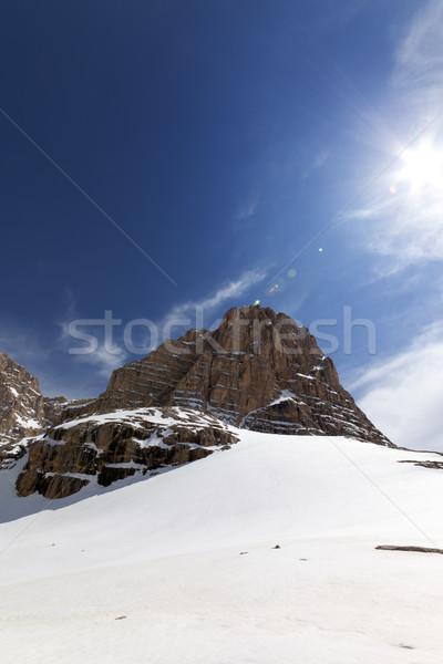 Snowy rocks at nice day Stock photo © BSANI