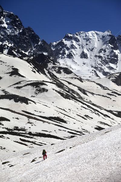 Uzun yürüyüşe çıkan kimse dağlar Türkiye adam spor manzara Stok fotoğraf © BSANI