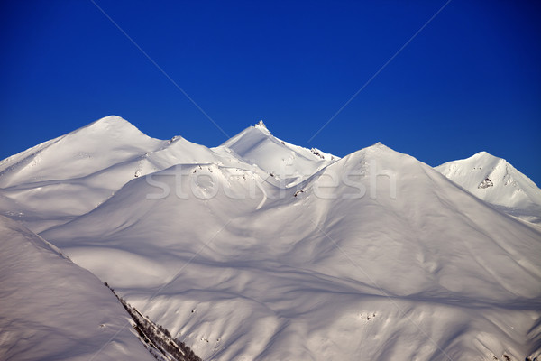 Snowy mountains in morning Stock photo © BSANI