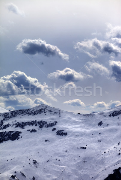 Off-piste slope and sunlight clouds Stock photo © BSANI