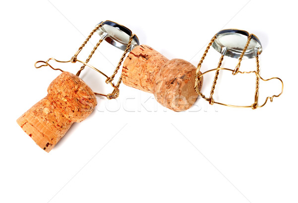 Corks from champagne wine and muselets Stock photo © BSANI