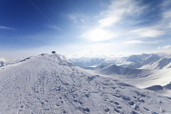 Top station of ropeway on ski resort Stock photo © BSANI