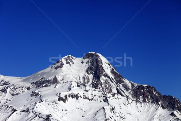 Top of Mount Kazbek at nice winter day Stock photo © BSANI
