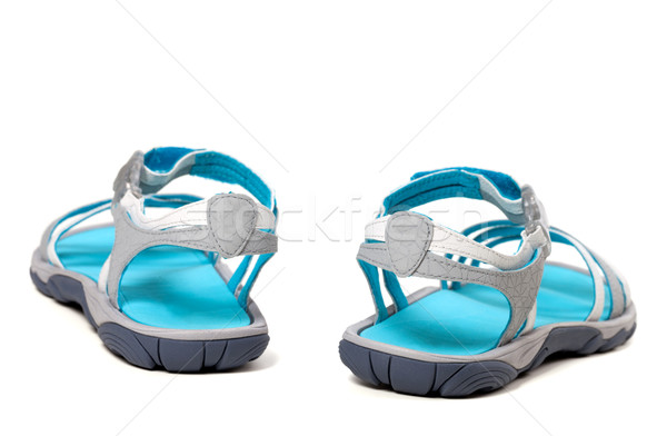 Verano sandalias vista posterior aislado blanco mujeres Foto stock © BSANI