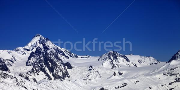 Panoramisch winter kaukasus bergen mooie Stockfoto © BSANI