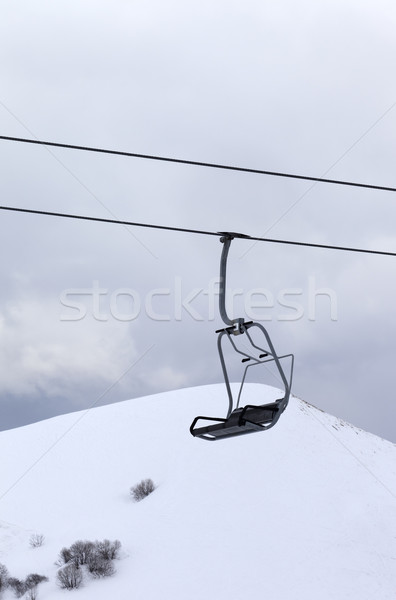 Chair lift at evening Stock photo © BSANI