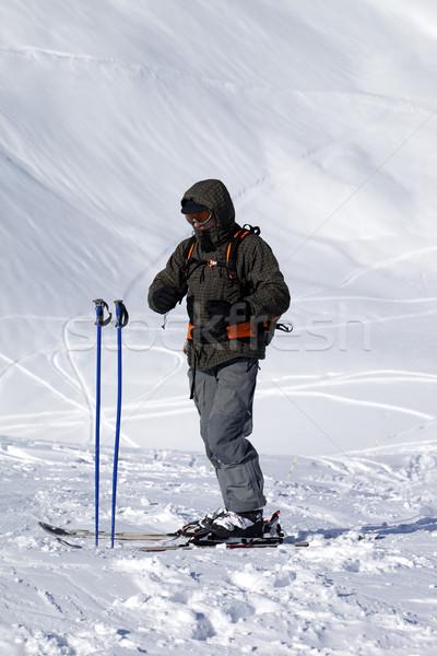 Skieur haut Nice jour caucase Photo stock © BSANI