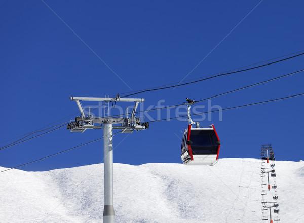 гондола лыжных курорта Nice день Кавказ Сток-фото © BSANI