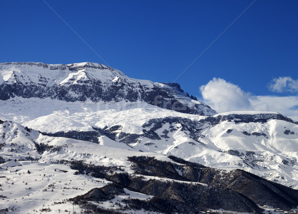 Stock photo: Winter mountains at nice sun day