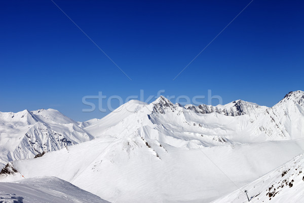 Snowy winter mountains. Caucasus Mountains, Georgia Stock photo © BSANI