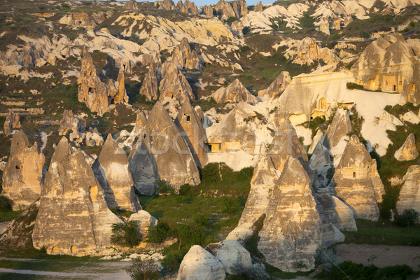 View of Cappadocia valley at sunset Stock photo © BSANI