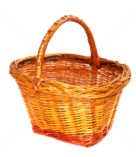 Empty wicker basket. Isolated on white background.  Stock photo © BSANI