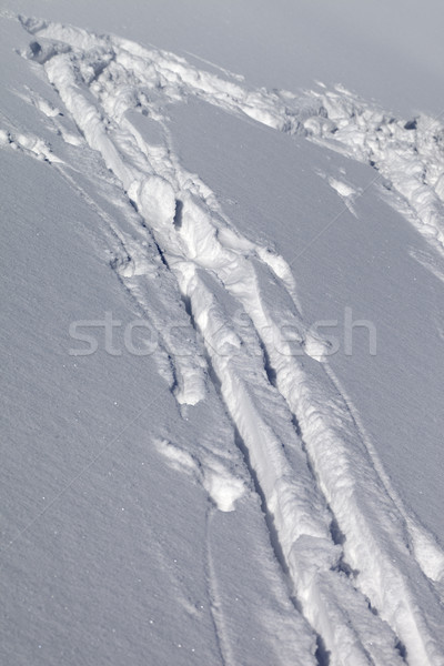Background of off-piste ski slope with new-fallen snow Stock photo © BSANI