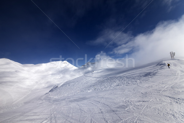 Skier on start of ski slope Stock photo © BSANI