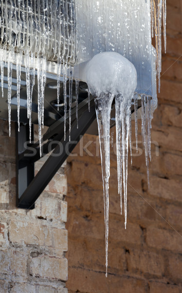 Icicle on icy air conditioning Stock photo © BSANI