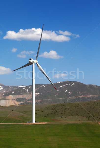 Wind turbine at nice spring day Stock photo © BSANI