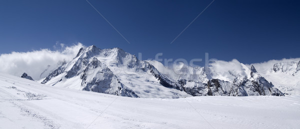 Mountain panorama. Caucasus, Dombay. View from the ski slope. Stock photo © BSANI