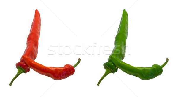 Letter l groene Rood geïsoleerd witte Stockfoto © BSANI