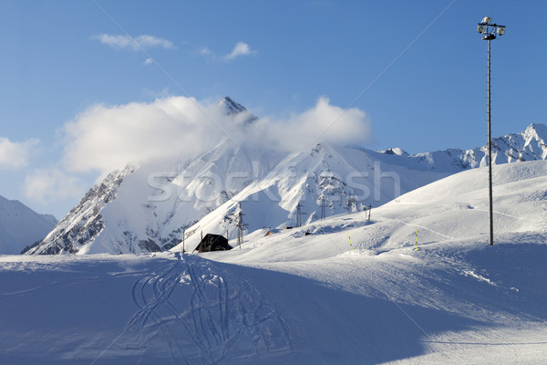 Stock photo: Snow skiing piste