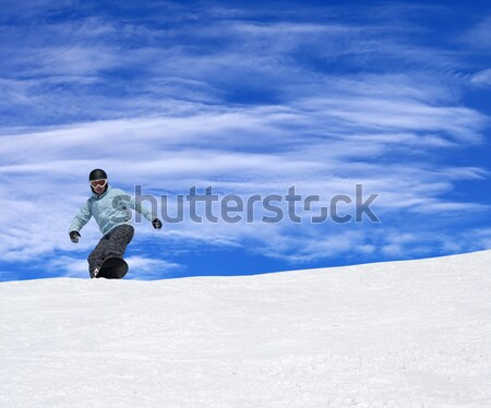 スノーボーダー いい 太陽 日 自然 ストックフォト © BSANI