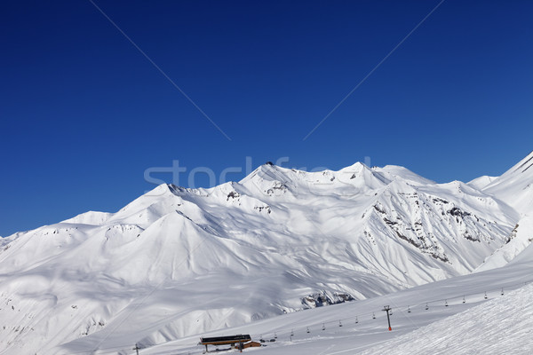Stock photo: Ski slope at nice sun day
