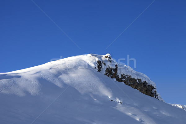 Top of mountains with snow cornice after snowfall Stock photo © BSANI