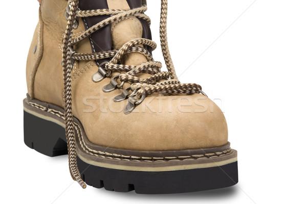Hiking boot on white background Stock photo © BSANI