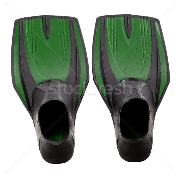 Green swim fins Stock photo © BSANI