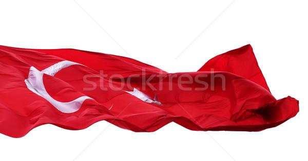 Banderą Turcja odizolowany biały księżyc Zdjęcia stock © BSANI