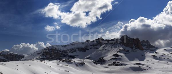 パノラマ 山 トルコ セントラル 高原 空 ストックフォト © BSANI