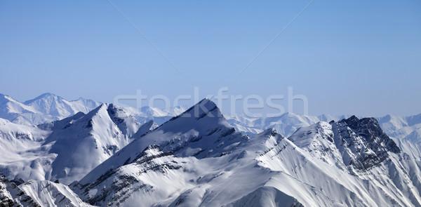 Panoramica view inverno montagna mattina caucaso Foto d'archivio © BSANI