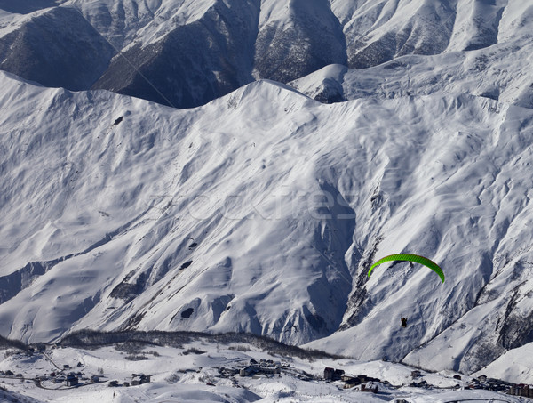 Speed riding in snowy winter mountains Stock photo © BSANI