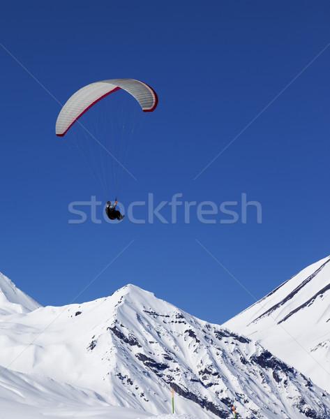 Napos hegyek szép nap Kaukázus Grúzia Stock fotó © BSANI