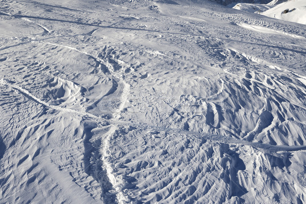 Off-piste slope after snowfall at sun morning Stock photo © BSANI