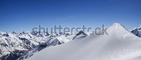 Mountain panorama. Caucasus, Dombay. Stock photo © BSANI