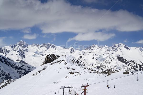Stock photo: Ski slope