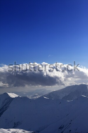Winter mountains in nice evening Stock photo © BSANI