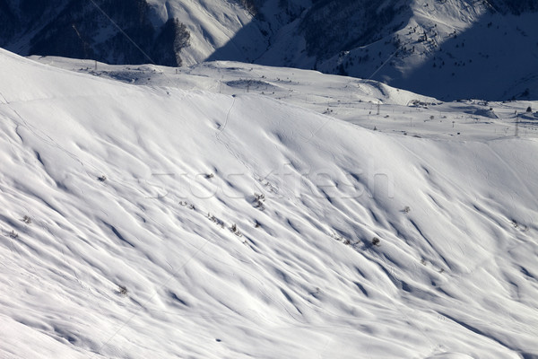 Top view on off-piste slope at evening Stock photo © BSANI