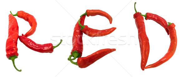 RED text composed of chili peppers Stock photo © BSANI