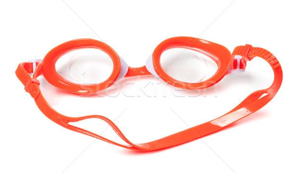 Molhado óculos de proteção natação isolado branco óculos Foto stock © BSANI