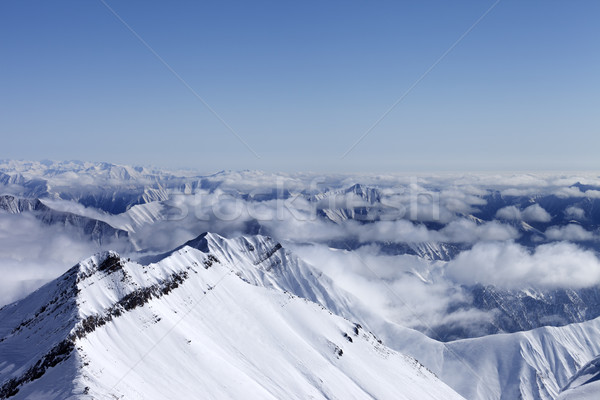 High mountains in haze. Caucasus Mountains. Stock photo © BSANI