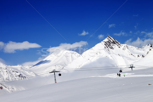 Ski resort at nice sun day Stock photo © BSANI