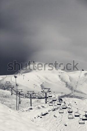 Kayak buğu kafkaslar dağlar Georgia başvurmak Stok fotoğraf © BSANI