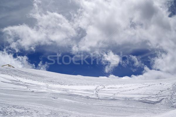 Ski slope in sun wind day Stock photo © BSANI