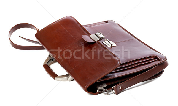 Leather brown briefcase Stock photo © BSANI